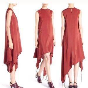 Acne Studios Eletta Asymmetrical Silk Dress NWT